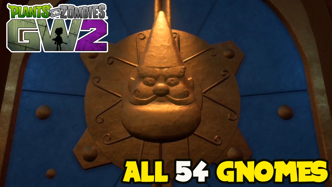 All 54 Gnomes Locations Plants Vs Zombies Garden Warfare 2 Youtube