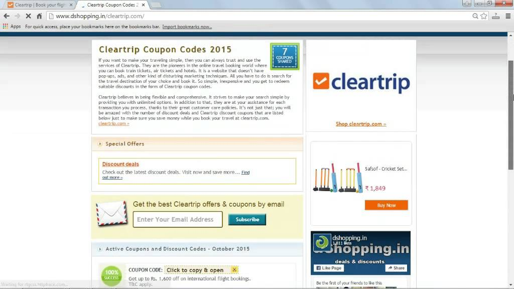 Video on how to use cleartrip coupons