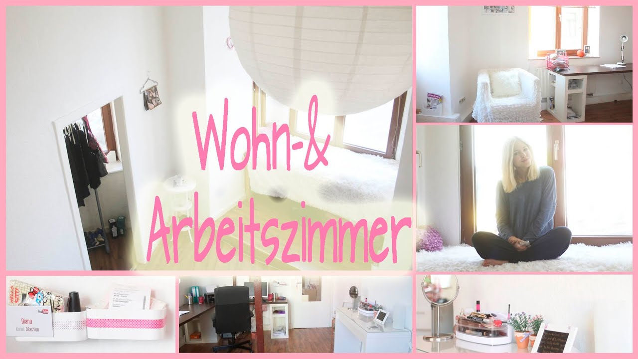 roomtour i mein wohn arbeitszimmer i wohnungswoche 7 youtube. Black Bedroom Furniture Sets. Home Design Ideas