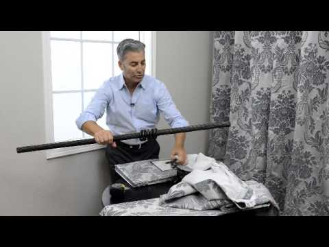 How To Hang Half Price Drapes Pole Pocket Panels With Hook Belt