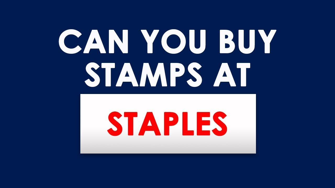 Does Staples Sell Stamps