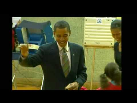 Barack Obama Casts His Vote In US Election 2008.