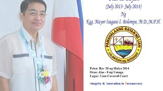 1st SOMA of Mayor Isagani I. Bolompo of Lian, Batangas