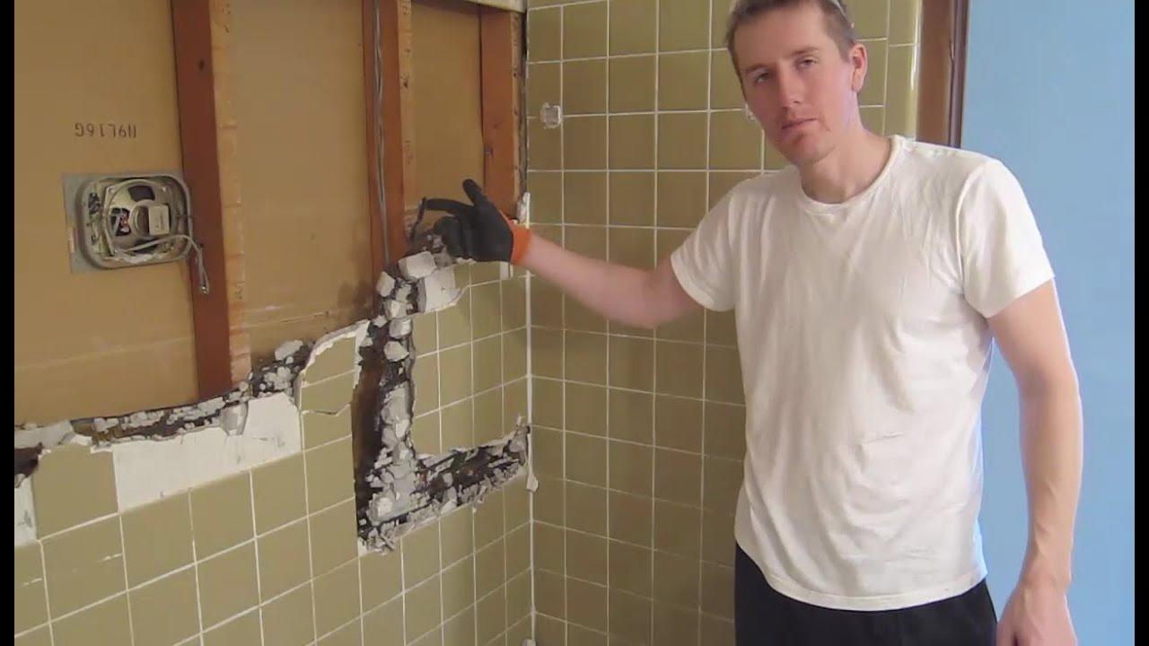 demo small bathroom remodel part 1