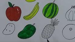 Stroberi Cara Menggambar Dan Mewarnai Gambar Buah Buahan Untuk