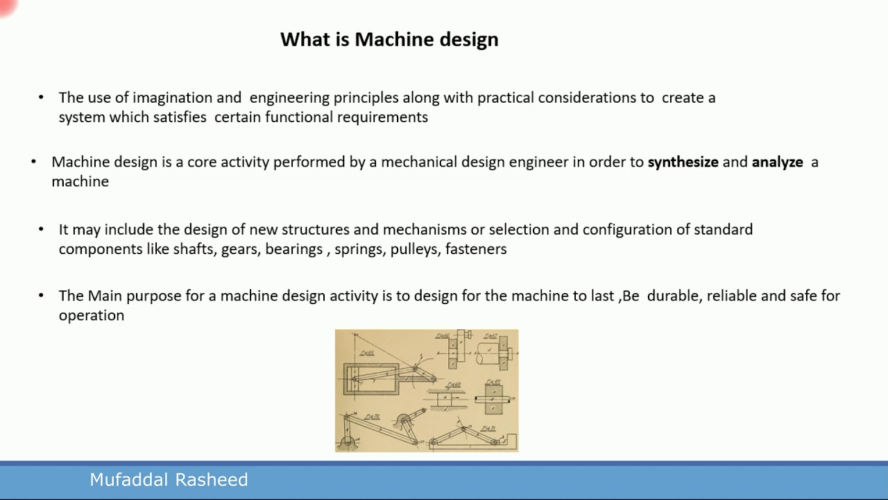 What Is Machine Design Difference Between Analysis And Synthesis Youtube