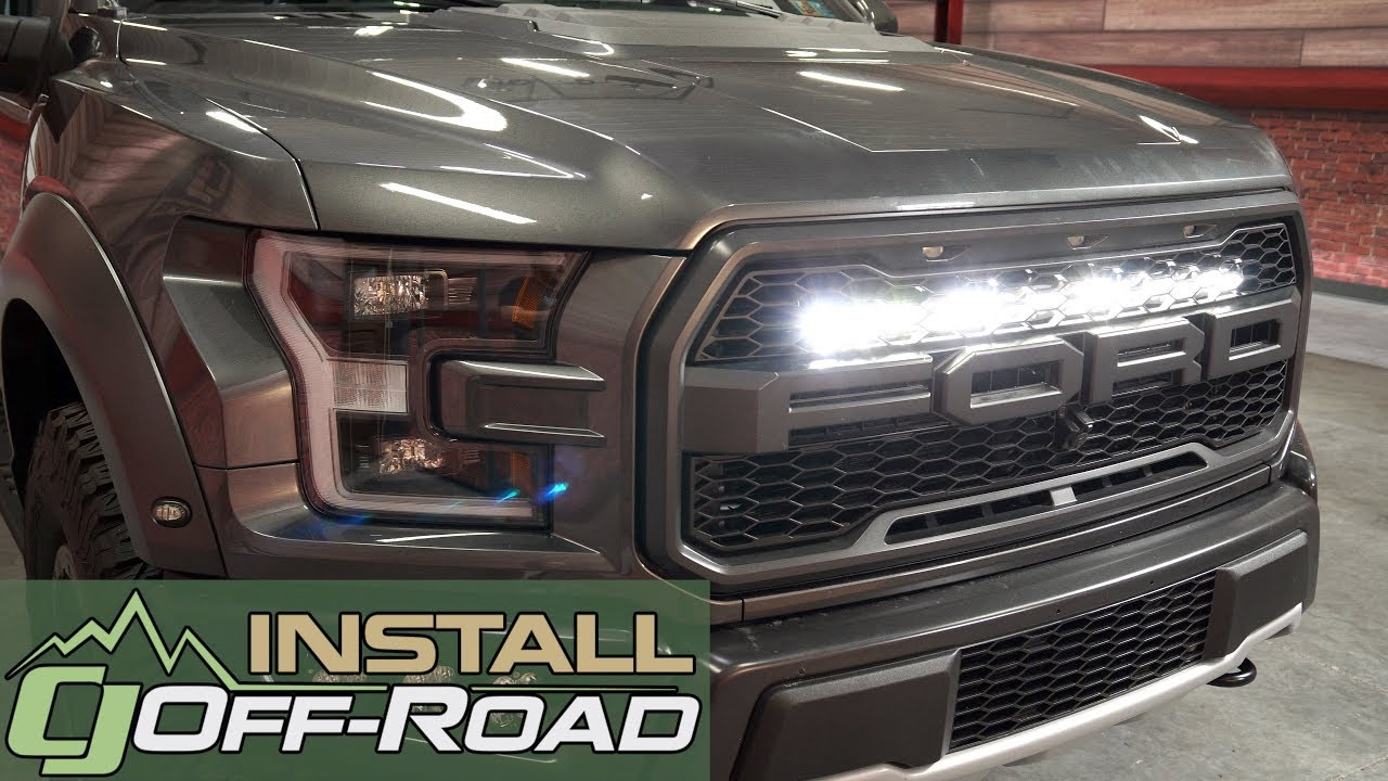 F 150 Raptor Install Baja Designs 30 S8 Grille Led Light Bar Kit For 2017 2019 Raptors