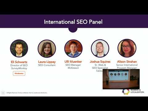 Women in Localization Silicon Valley International SEO panel