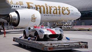 شحن أول سيارة تصنع بالكامل في الإمارات إلى فرنسا (فيديو)
