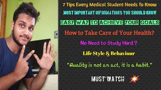 7 tips every medical student needs to know|medical life|college life|must watch|riddhiroy