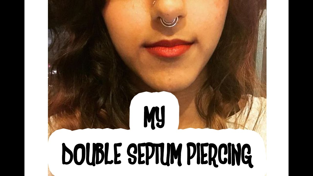 My Double Septum Piercing Septum Piercing Through Cartilage Experience Youtube