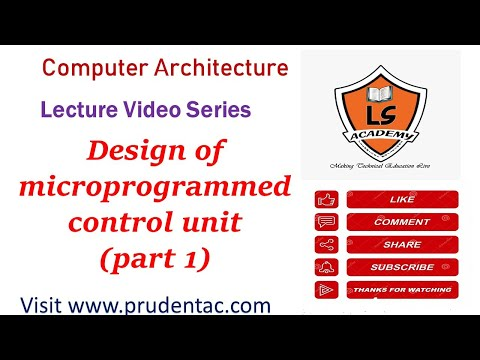Design Of Microprogrammed Control Unit (part 1)