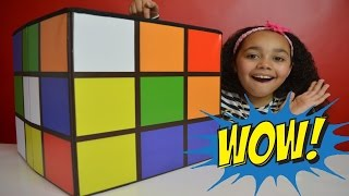 giant rubik s cube surprise toy box   shopkins   disney fashems   pinypon   lalaloopsy   toys andme
