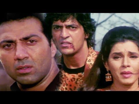 Sunny Deol heart-Broken by Neelam & Chunky's Relationship - Bollywood Movie Scene | Kasam