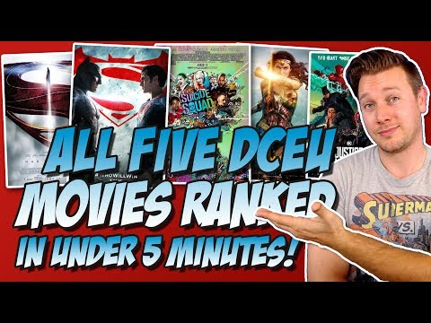 All 5 DCEU Movies Ranked From Worst to Best in Under 5 Minutes (w/ Justice League Review)