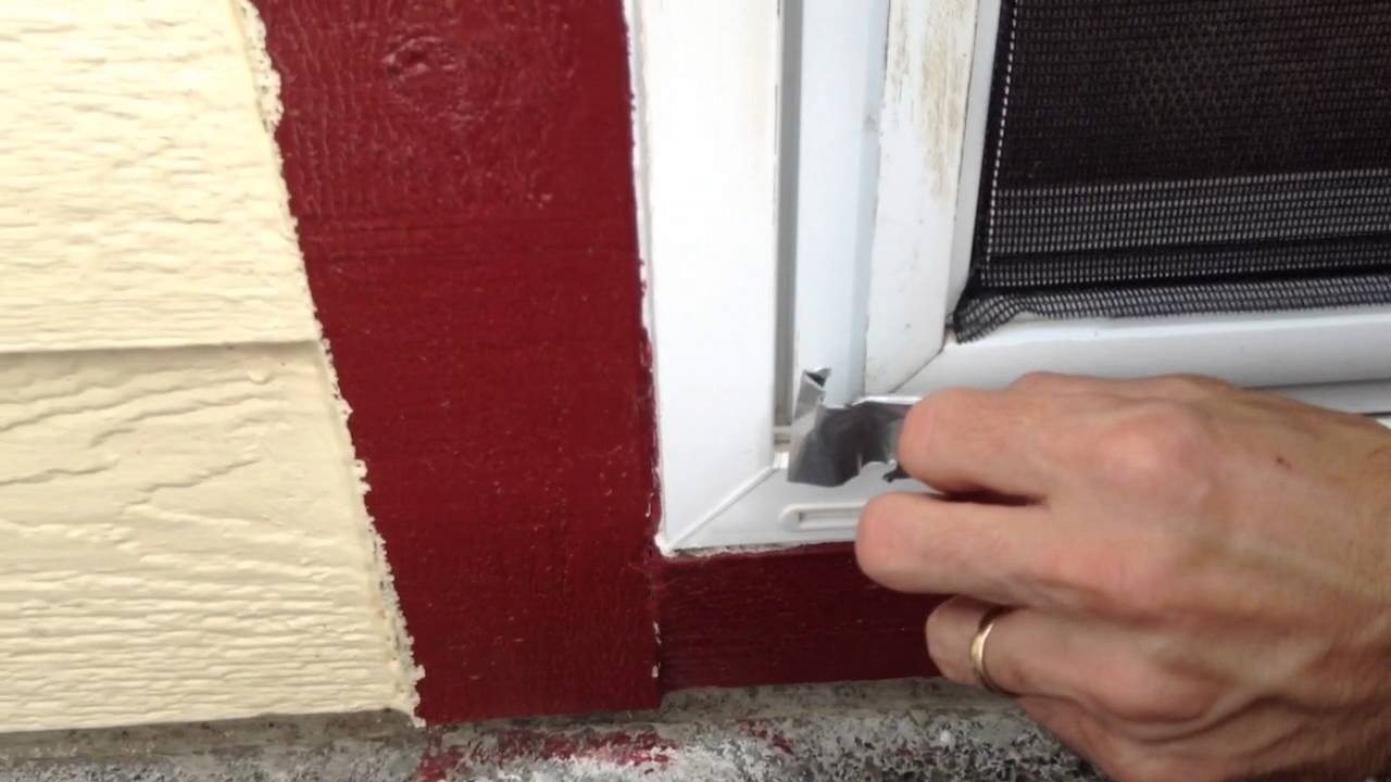 How To Open A Screen Door When You Lock Yourself Out Youtube