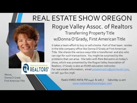 Real Estate Medford - How to Transfer Property Title