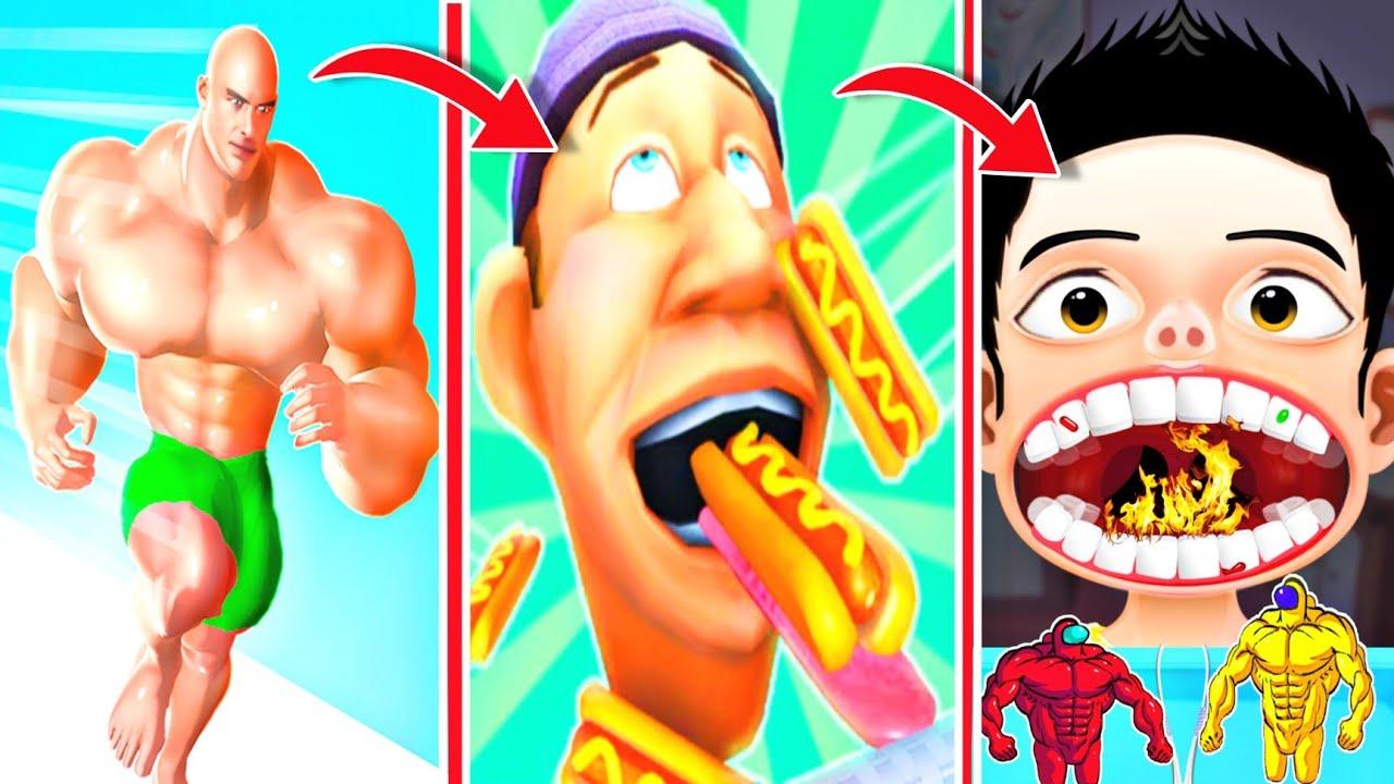 Muscle Rush, Hot Chilli 3d, Lick Runner 3d, Fruits Rush 3d Gameplay