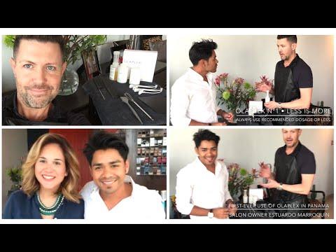 Introducing OLAPLEX in Panama City! Chad Kenyon with #RicPipinoOnLocation at Studio Marroquín.