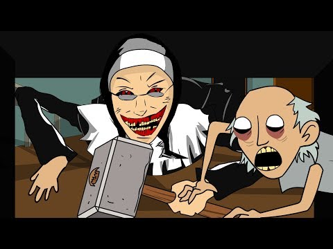 GRANNY THE HORROR GAME ANIMATION #21 : EVIL NUN Vs Scary Granny DAY 1