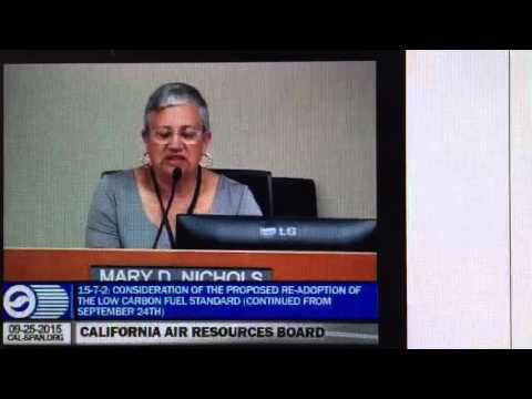 Chair Mary Nichols Closing Comments - 092515 ARB BOD Mtg