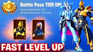 HOW TO GET 100 TIERS IN BATTLE PASS *EASY LEVEL UP* Fortnite SEASON 10 -MAX CATALYST & ULTIMA KNIGHT
