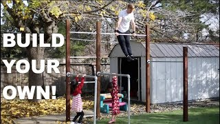 Build Your Own Calisthenics GYM! Do it yourself, do it cheap!