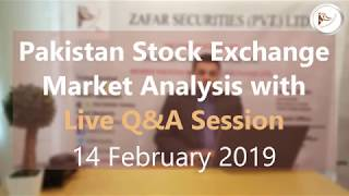 Pakistan Stock Exchange Tips and KSE 100 Index Market Summary (in Urdu) 14 February 2019