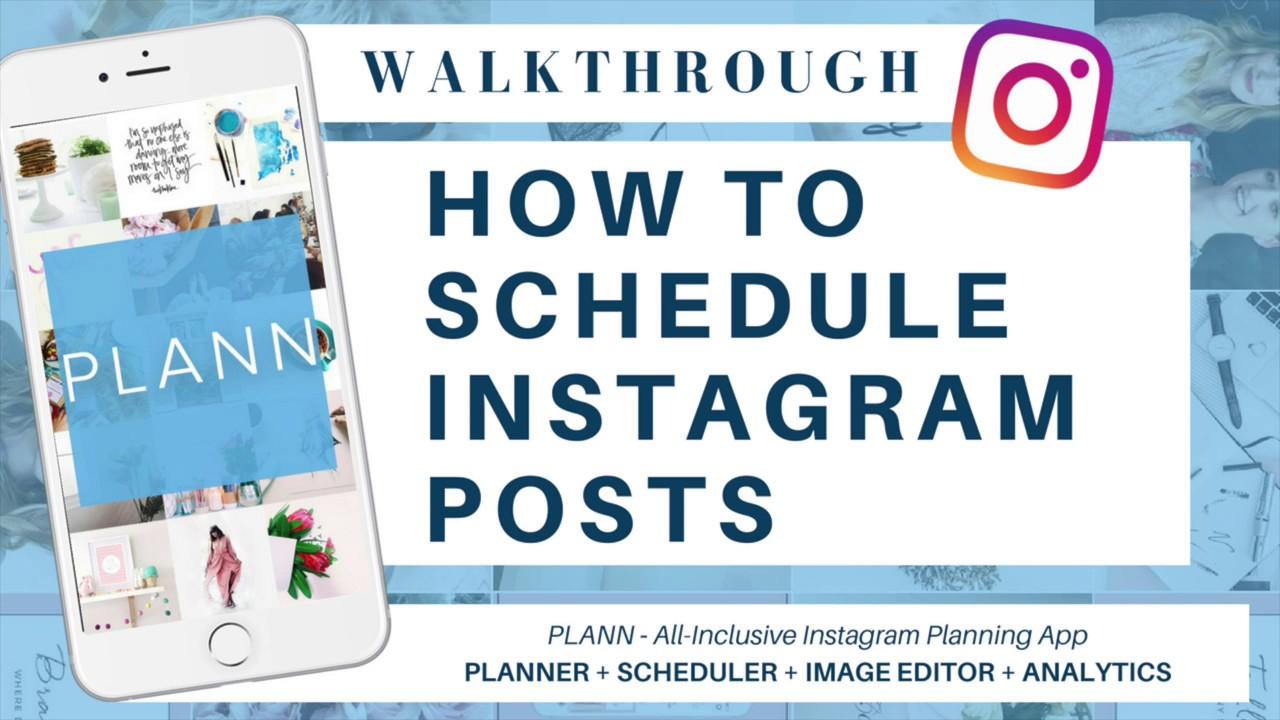 schedule instagram posts app