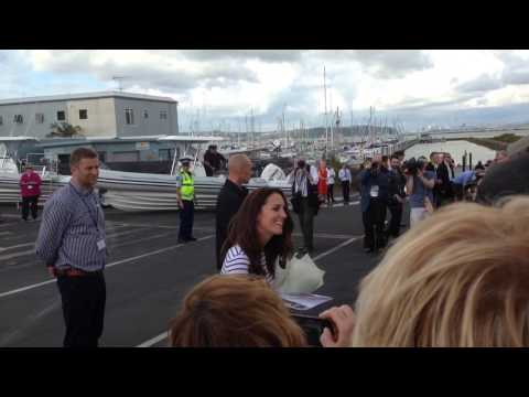 Kate and William at Hobsonville Marina
