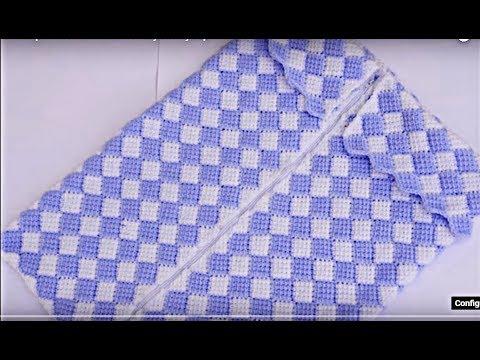 Porta bebe a crochet muy fácil y rapido - YouTube