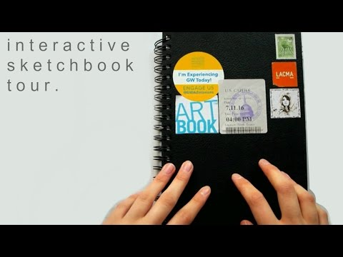 interactive sketchbook tour