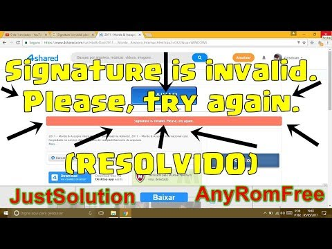 Signature invalid 4shared problem FIXED & Download Just Solution