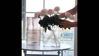 유니크 유리 화병 거실 장식 예쁜 꽃병 글라스 투명