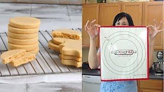 Peanut Butter Cut Out Cookies, Dough Ez Rolling System, Haniela's