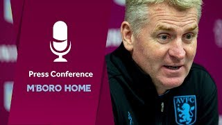 Press conference: Middlesbrough home