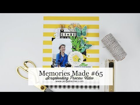 Memories Made #65 Scrapbooking Process Video - YouTube