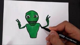 Dans Eden Yeşil Uzaylı Nasıl Çizilir__Yeşil Uzaylı Dansı__Green Alien Dance