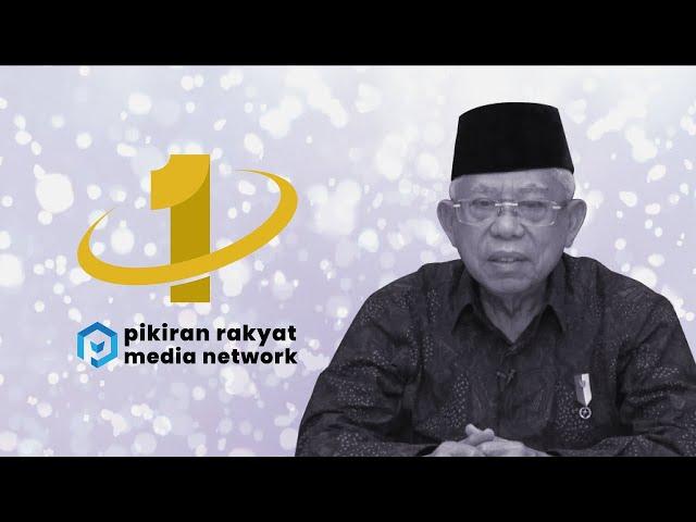Ucapan Selamat Ulang Tahun untuk Pikiran Rakyat Media Network dari Wakil Presiden RI KH.Ma'ruf Amin