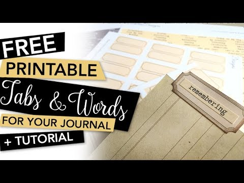 FREE Printable Tabs & Words + Tutorial | FREEBIE