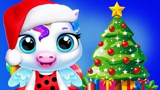 Fun Baby Pony Care Kids Games - My Pet Unicorn Christmas Dress Up, Mini Games, Feed, Bath Girls Apps