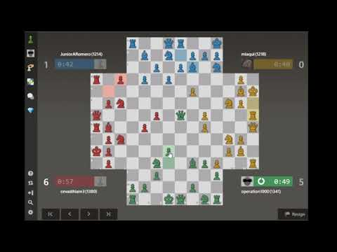 Queen Control | 4 Player Chess / Let's Play 35