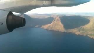 Landing Faroe Island with Atlantic Airways