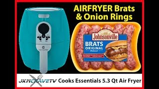 Cooking Dinner with the Air Fryer - Brats & Onion Rings | JKMCraveTV