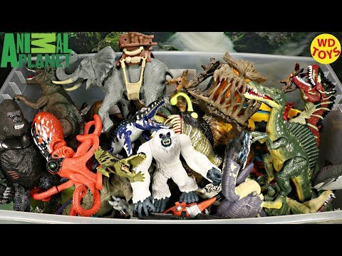 New Animal Planet Giant Box Surprise Toys Dinosaur Toys Jurassic Park Unboxing Top 10
