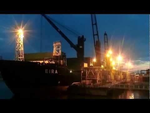 Coal Ship Eira Unloading Coal