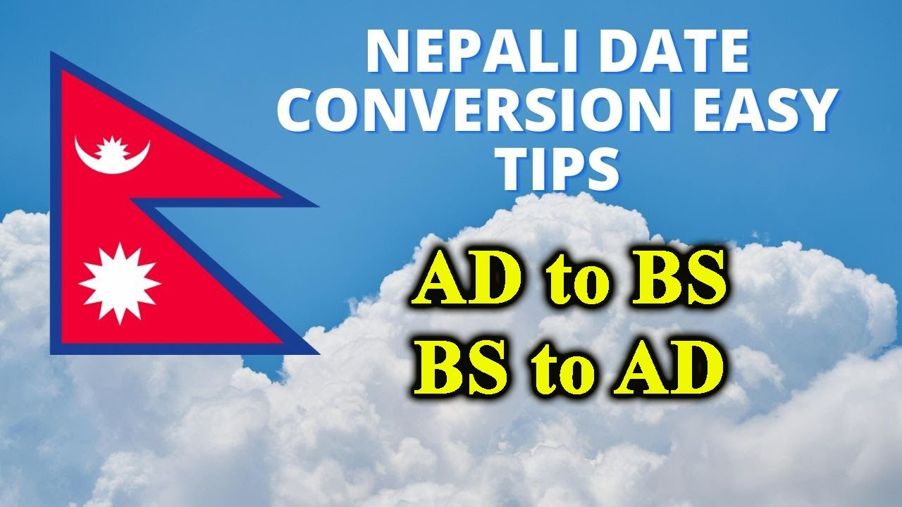 How To Convert Nepali Date B S English A D Ad Bs Converter