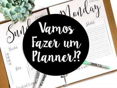 FAZENDO UM PLANNER EM CASA!! - Juba de Leão