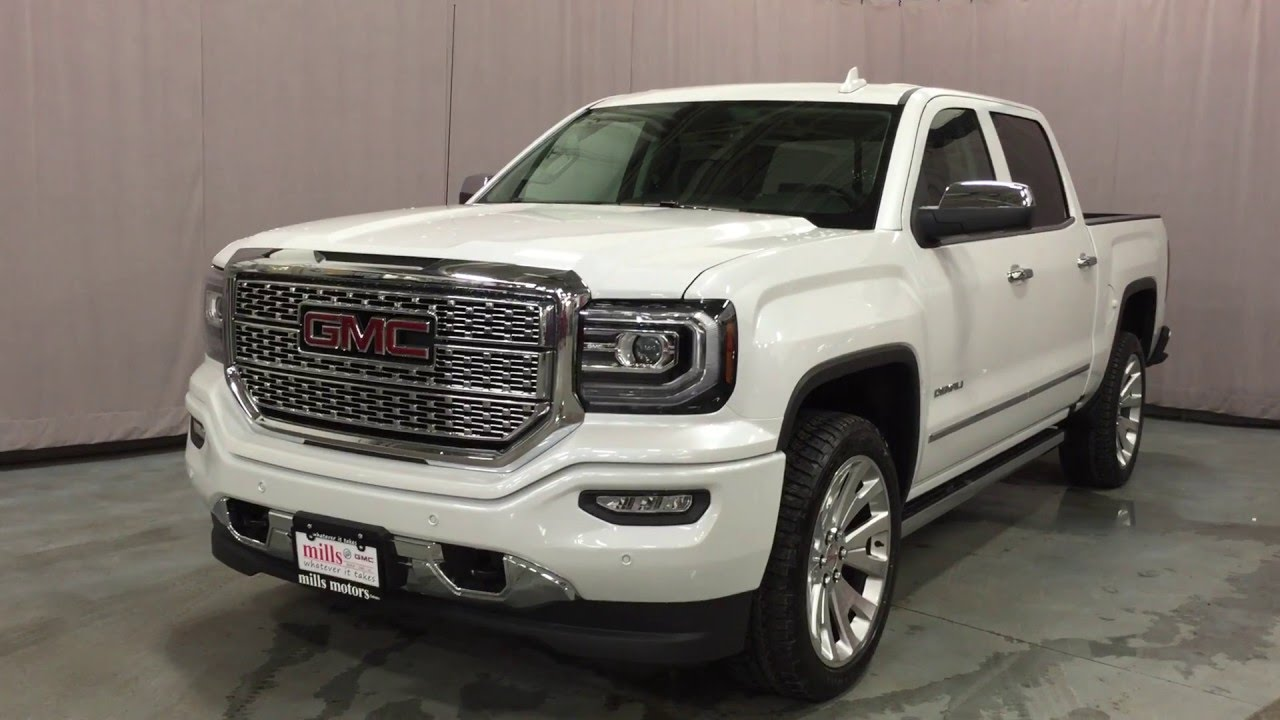 2016 Gmc Sierra 1500 Denali Crew Cab 4wd Leather Seats Bose Sound Oshawa On Stock 160481 You