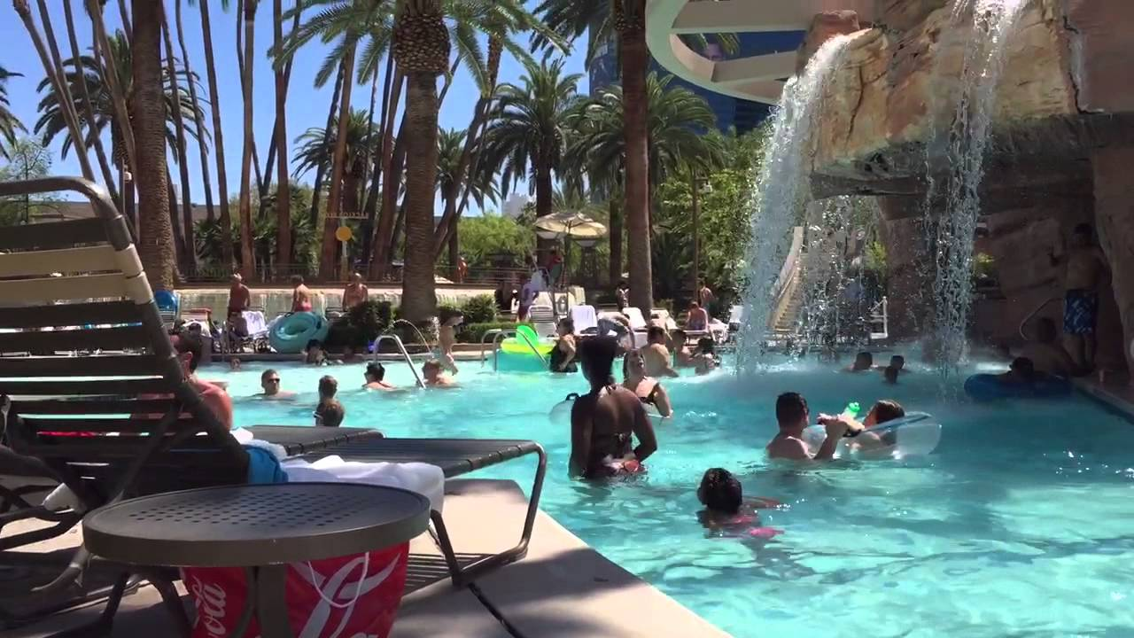 Part Of The Lazy River At Mgm Grand Pool Youtube